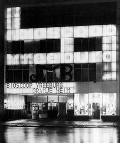 """Cinema """"Vreeburg"""" (1936) in Utrecht, the Netherlands, by Gerrit Rietveld"""