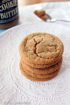 ICookie Butter Cookies are soft and chewy with the deliciously unusual flavor of cookie butter throughout each bite.