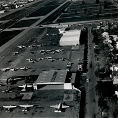 Today we take you back to 1971, to see what Schaefer Air Service looked like years ago at Van Nuys Airport! This leader in emergency medical service flew the first FAA certified air ambulance in the United States decades ago. Don't you love all the history here? [Photo Credit: Los Angeles Department of Airports] #VNYMemories #ThrowbackThursday
