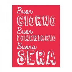Thats Italia THCV22 Canvas Dishcloth Buon Giorno, 27.6 x 19.7 in.