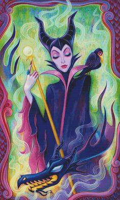 Disney Princess Villains Maleficent Counted Cross Stitch Pattern Needlework DIY