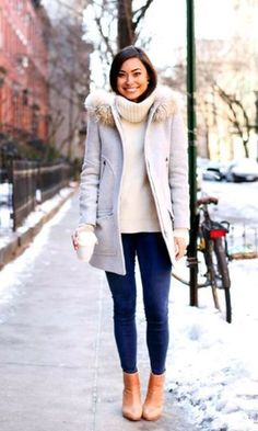 a1597d1b50 Stunning Winter Outfits Ideas To Update Your Wardrobe04 Look Inverno Bota