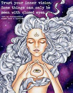 Marker art by Durianaddict. Spiritual third eye awakening with trippy hair and galaxy background. Dope Kunst, Eyes Artwork, Wow Art, Marker Art, Psychedelic Art, Third Eye, Illustrations, Art Inspo, Fantasy Art