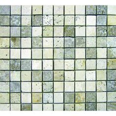 M. S. International Inc. 1 In. x 1 In. Mixed Travertine Mosaic Floor & Wall Tile-THDW1-SH-TRM1x1 at The Home Depot