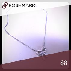 crystal bow necklace one size crystal bow necklace one size Jewelry Necklaces