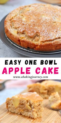 This super easy One Bowl French Apple Cake recipe is the perfect dessert to whip up in 30 minutes. The One-Bowl Apple Cake is super Moist and Light - great to enjoy with your afternoon tea or to finish a heavy meal! Dinner Party Desserts, Dessert Party, Desserts Français, Desserts With Apples, Easy Apple Desserts, Quick Apple Dessert, Health Desserts, Moist Apple Cake, Easy Apple Cake