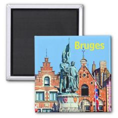 Bruges Belgium Brugge travel photo Magnet - photo gifts cyo photos personalize