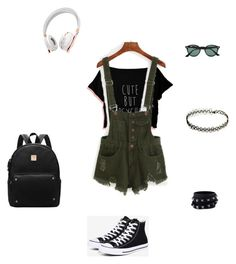 """""""Untitled #7"""" by em03071999 ❤ liked on Polyvore featuring Converse, Valentino, Caeden and Ray-Ban"""