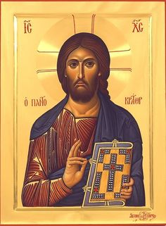 Jesus Christ Icon Whispers of an Immortalist: Icons of Our Lord Jesus Christ 3 Images Of Christ, Religious Images, Religious Icons, Religious Art, Christ Pantocrator, Church Icon, Paint Icon, Byzantine Art, Byzantine Icons