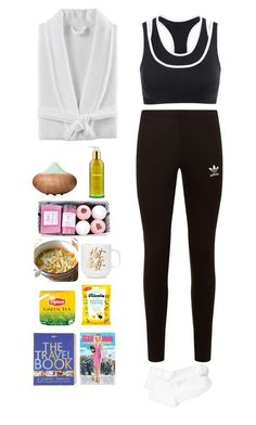 """""""Under the weather."""" by krys-imvu ❤ liked on Polyvore featuring Kassatex, Ultimate, Lonely Planet, Tata Harper, adidas Originals and Hue"""