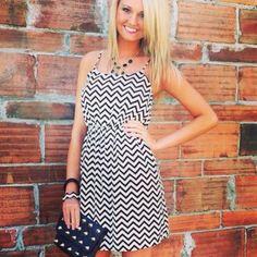 Chiffon Chevron Dress, super cute! Have one simular! :)