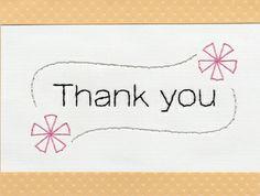 Thank you card by Sew Cute Cards  www.facebook.com/sewcutecards http://sewcute.storenvy.com