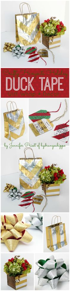 Christmas Holiday Duck Tape Projects  by Jennifer Priest for hydrangeahippo Crafty Hangouts 1
