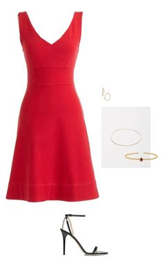 """""""Untitled #386"""" by inlateautumn ❤ liked on Polyvore featuring J.Crew, Bony Levy, Kathleen Whitaker, Lord & Taylor and Jimmy Choo"""