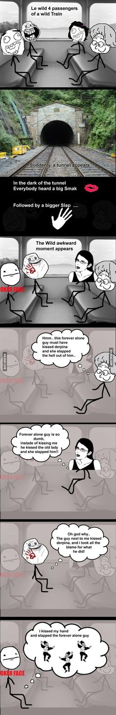Trolling in the train