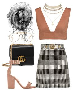 """Untitled #1798"" by emmastrouse ❤ liked on Polyvore featuring Gucci, Gianvito Rossi, Valentino, Charlotte Russe and CÉLINE"