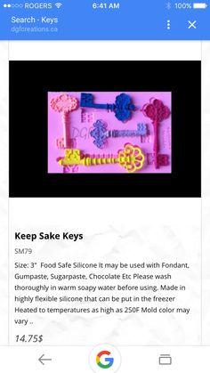 Keep sake keys mold