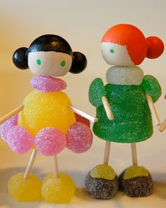 Just a few little gumdrops and toothpicks can create an afternoon of fun together!