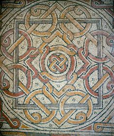 Israel, Bethany, mosaic in the south aisle of the first church built between 333-390AD