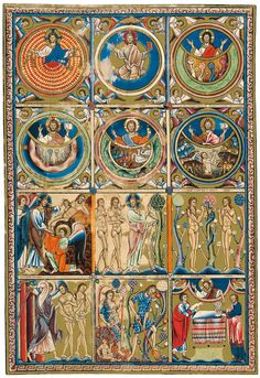 Saltiri anglocatalà - Category:Temptation of Adam and Eve in miniatures - Wikimedia Commons Medieval Books, Medieval Manuscript, Medieval Art, Renaissance Art, Illuminated Letters, Illuminated Manuscript, Christian Mysticism, Rome Antique, Book Of Hours
