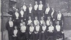 Bullingdon Club - Tommy is seated on the left of the back row © Lanhydrock archive Bullingdon Club, Back Row, Best Dressed Man, Violets, Wwi, The Row, Brave, Gentleman, Nice Dresses