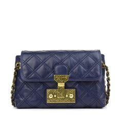 - Marc Jacobs night blue quilted leather shoulder bag