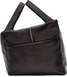 Double zipper this.  #ref  Ann Demeulemeester - Black Alana Travel Bag