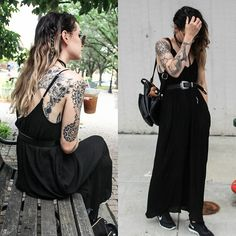 Get this look: http://lb.nu/look/8323157  More looks by Waters Riley: http://lb.nu/streetfem  Items in this look:  Threadlust Dress, Nike Sneakers   #bohemian #sporty #street