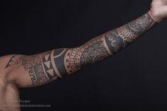 Thomas Hooper. Sacred geometry. #tattoo #sleeve