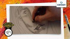Comment dessiner les ombres d'un visage sur papier Canson?