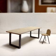 miniature __  #architecture #furniture #miniature #chair #table #model #architecturemodel by m_steamengine