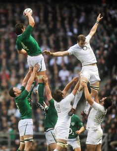 Ireland's Donncha O'Callaghan, left, receives the ball during the Six Nations International Rugby Union match against England at Twickenham in London on Saturday, March 17.