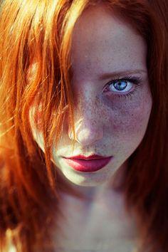 photography portrait nature red hair long hair Freckles Maja Topcagic Asima Sefic