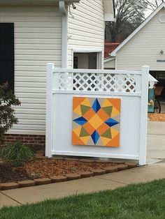 Barn quilt - Kathy, so far this is my favorite. Part of it could be that I like the colors so much too.