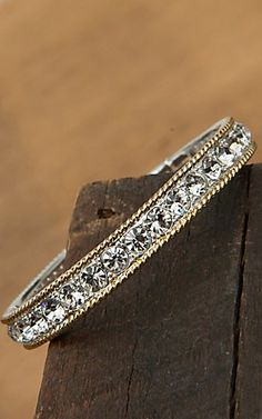 Montana Silversmiths Two-toned Crystals Bracelet   Cavender's