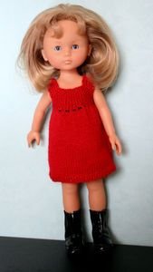 Tuto robe rouge - tricot