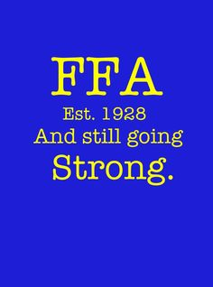 Be a Life-long FFA Supporter: In progress
