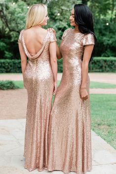 Sample our sequin bridesmaid dresses at home before you buy. We carry plus, petite and tall sizes for every bridesmaid. Gold Wedding Gowns, Sequin Wedding, Wedding Dresses, Crystal Wedding, Glamorous Wedding, Prom Dresses, Gold Dama Dresses, Bridesmaid Outfit, Party