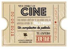 Resultado de imagen para boletos de cine para invitacion