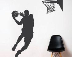 Basketball Player Wall Decal Basketball Wall by AmandaCooldesigns