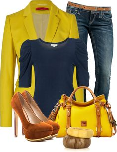 """Jeans For Work"" by elenh2005 on Polyvore"