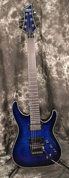 Schecter Guitar Research Blackjack SLS C-1 FR Sustainiac Electric Guitar See Through Blue Burst