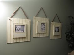 Bead Board Picture Frames