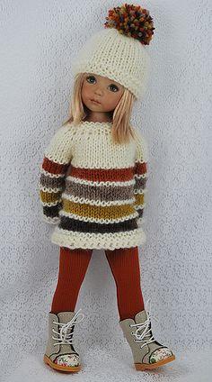 Crochet Baby Dress Pattern, Crochet Doll Dress, Crochet Barbie Clothes, Knitted Dolls, Girl Dolls, Baby Dolls, Sasha Doll, American Doll Clothes, Knit Fashion