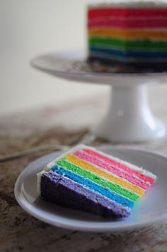 Rainbow cake - Gâteau arc-en-ciel