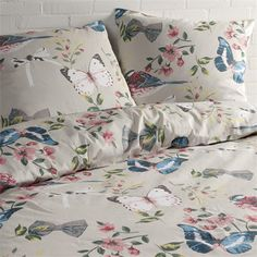 Day Dream Lieke dekbedovertrek - www.smulderstextiel.nl - #lente #voorjaar #bloemen #vlinder #bedding #beddengoed #sheets #laken #slaapkamer #slapen