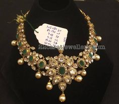 Pachi Emerald Necklace 105 Grams - Jewellery Designs