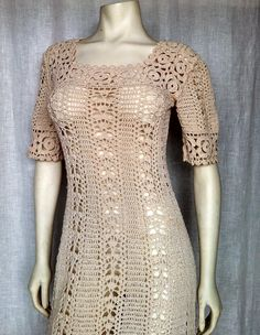 Hey, I found this really awesome Etsy listing at https://www.etsy.com/listing/153794839/vintage-60s-exquisite-crochet-dress