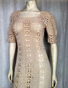 Vintage 60's Exquisite Crochet Dress