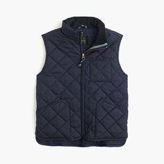 A scaled-down version of one of Dad's faves, this quilted vest is perfect for those chilly fall days. <ul><li>Hits at hip.</li><li>Poly.</li><li>Zip closure.</li><li>Lined.</li><li>Machine wash.</li><li>Import.</li><li>Select stores.</li></ul>